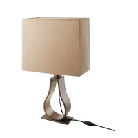 "KLABB Table lamp with LED bulb, light brown/bronze color 24 "" NEW FREE SHIPPING"