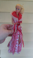 Vintage 1985 Magic Moves Mattel Barbie Doll -  WORKS! WITH RED WHITE ROBE