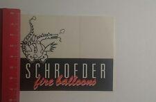 Aufkleber/Sticker: Schroeder fine balloons (031216120)