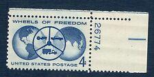 1162 Wheels Of Freedom US Single W/Plate Number Mint/nh (Free shipping offer)