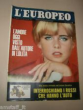 EUROPEO=1966/26=SUE LYON=MARCEL ALLAIN=VLADIMIR NABOKOV=HERMAN SCHERCHEN