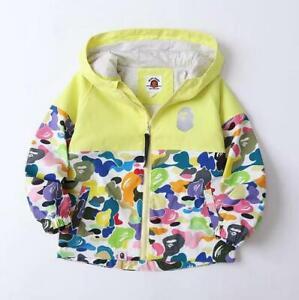 2022 Kids Boy Girl Camo Shark Wind Sport Jacket Banana Sweatshirts Hoodies Coat