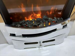 """Mia 16"""" Chrome Cast Iron Firefront Fret For Gas or Electric Fire"""