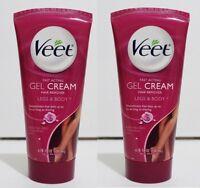 VEET Gel Hair Remover Cream Legs & Body 6.78 fl oz - 2 PACKS