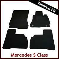 Mercedes S-Class W221 SWB 2006-2013 Tailored Carpet Floor Mats BLACK