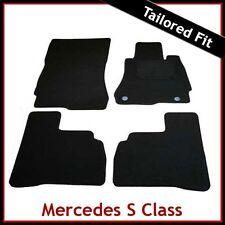 Tailored Carpet Floor Mats for MERCEDES S-Class W221 SWB 2006-2012 BLACK