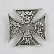 Biker Iron Cross Skull Eisernes Kreuz Totenkopf Kreuz Pin Anstecker Anstecknadel