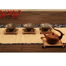 Bamboo Drink Coasters Holder Set of 6 Kitchen Dining Room Tea Ceremony Small