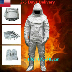 1000°C Thermal Radiation Heat Resistant Aluminized Suit Fireproof Cloth 175 wear