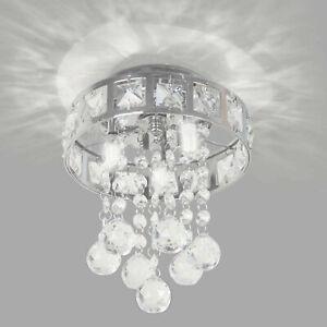 Modern Luxury Crystal LED Ceiling Light Lamp Fitting Pendant Chandelier Decor