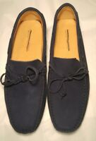 Saks Fifth Avenue Men's Brand New Blue Suede Driver Slip On Loafer Size 11