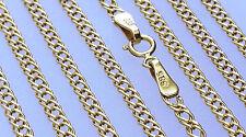 585 echt Gold Zwillingspanzerkette 14 kette Flach Halskette Gelbgold panzer 45cm