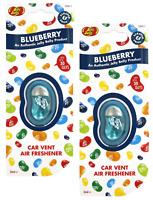 2 X Jelly Belly BLUEBERRY Car Air Vent Clip Air Fresheners *FAST UK DISPATCH*