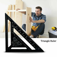 """7""""/12"""" Ruler Metric/Imperial system Aluminum Alloy Speed Square Roofing Triangle"""