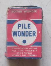 "Ancienne Boite Carton Boitier Wonder Type ""Pieto"" Gris Garage Collection Loft"