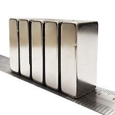5pcs 40 mm x 20 mm x 10 mm Forte Blocco Cuboide Magneti al neodimio terre rare