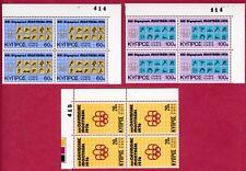 R* CYPRUS 4 SETS BLOCKS 12 V. MNH* 1976 OLYMPIC GAMES Mi nr. 454-456 #75811