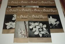 Orchid Digest 1964 through 1971 A few missing - Free Shipping w/tracking
