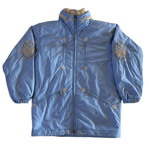 Bogner Rare Embroidered Powder Blue Ski Jacket, 3377++ Insulation,Women's Size 4