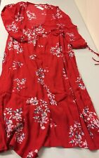 69# gap red floral dress Size L