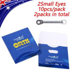 EASYINSMILE 10pc Dental Orthodontic NITI Closed Coil Spring 012 6MM 2Small Eyes