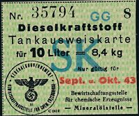 Stamp Germany Poland Revenue WWII 3rd Reich General Government Diesel SK MNG