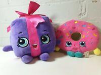 Shopkins D'lish Doughnut and miss pressy present beanie bottom Plush bundle