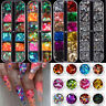 Glitter Nail Art Rhinestones Maple Leaves Butterfly Nail Sequins 3D Decoration