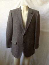 Vintage Kingsridge Men's Sport Coat 100% Wool, Leather Wrapped Buttons, Grey