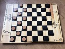 Jack Daniels Old Time Old No7 Brand Wooden Draughts Board and Draughts Set
