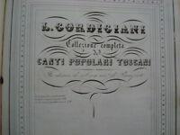 GORDIGIANI-CANTI POPOLARI TOSCANI-COLLEZIONE COMPLETA 61 PEZZI-PIANOFORTE-1856