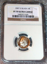 2007 S SILVER NGC PF 70 ULTRA CAMEO ROOSEVELT DIME