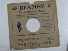 "78 rpm 10"" inch card gramophone record sleeve , BEAMES , EASTBOURNE"