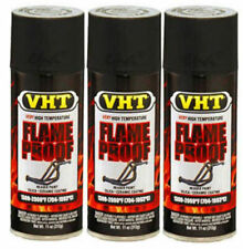VHT Flame Proof Header Exhaust Spray Paint High Temperature Flat Black SP102 x 3