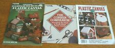 Lot 3 Leisure Arts PLASTIC CANVAS PROJECTS Creative Christmas / Corner Companion