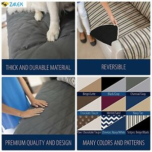 Reversible Large Sofa Protector for Seat Width up to 70 In Couch Slip Cover Thro