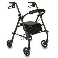 Equate Mobility Rolling Walker With Seat 350lbs Capacity