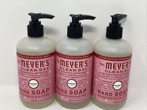 Mrs Meyer's  PEPPERMINT Hand Soap 12.5floz -Seasonal limited edition 3 PACK NEW