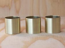 3 Walking Cane Brass Collars Brushed Finish 7/8X1 Walking Cane Parts Ferrule