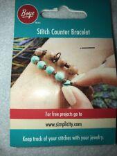 Boye 3407060000W Stitch Counter Bracelet-Brown & Turquoise New