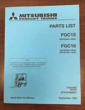 Mitsubshi Forklift Parts Manual FGC15 and FGC18