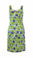 ** D Exterior ** Summer Dress ** Purple & Green ** Designer ** 46 ** Cotton **