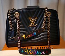 Louis Vuitton New Wave Chain Handtasche Tote M51496 Leder schwarz black