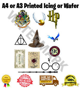 Harry Potter Icing Edible Print Decor Themed Cake Items Shapes Symbols A4 or A3