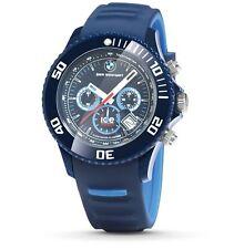 Original BMW Motorsport ICE Watch Chrono Armbanduhr Uhr unisex Dunkelblau, big