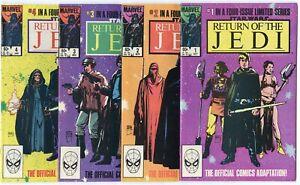 Return of the Jedi #1 - 4  Complete Set  avg. NM 9.4  Star Wars  Marvel  1983