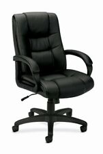 Basyx By Hon Vl131 High Back Loop Arm Executive Chair - Vinyl Black (vl131en11)