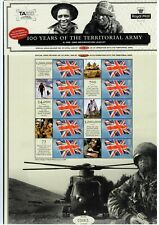 GB 2008 - Territorial Army Centenary - Commemorative Sheet CS-1 'Smilers' style