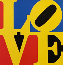 "Robert Indiana       ""Love (Red Yellow Blue)""    1996   Screenprint"