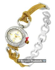 ladies 2 tone vintage style party fashion watch gold chain links bracelet